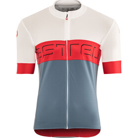 Castelli Prologo VI Maillot Manga Corta Hombre, ivory/red/light steel blue